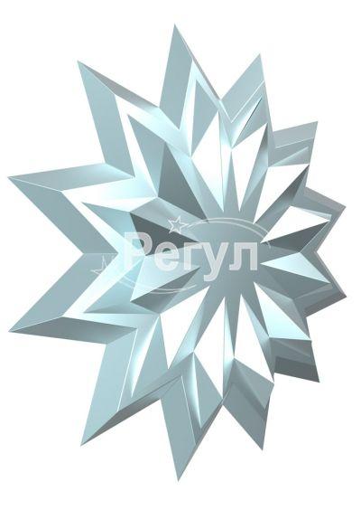 Звезда с логотипом серебряная