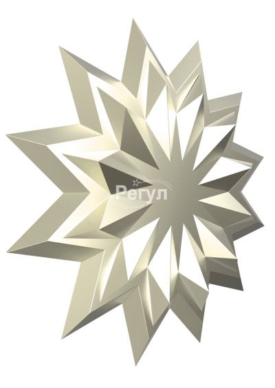 Звезда с логотипом платиновая