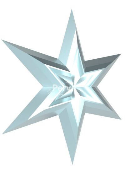 Двойная звезда серебряная